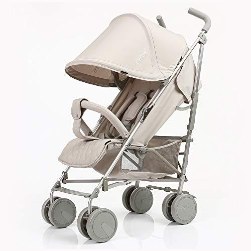 Kinderwagen, kan opvouwen opvouwen en lichte kinderwagen, kan het vliegtuig nemen, One Step vouwen, geschikt voor 0-36 maanden baby wit