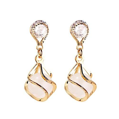 WENMENG2021 Pendientes de Diamantes Pendientes Colgantes para Mujer Pendientes de Temperamento Pendientes de Diamante Regalos de joyería hipoalergénica para niñas Regalos de Boda Pendientes Colgantes