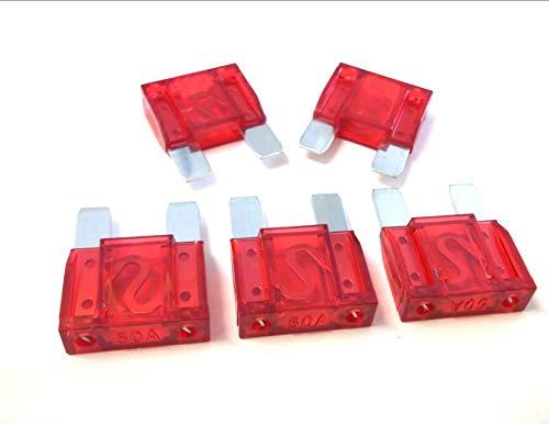 Innovo 5 x 50amp Red Maxi Blade Fuse Large Auto Car Plant HGV