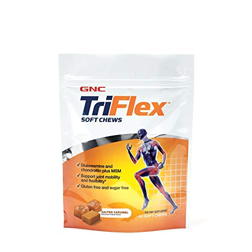 GNC TriFlex Soft Chews, Salted Caramel, 60 Soft Chews, Supports Joint Health
