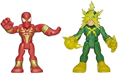 PLAYSKOOL HEROES MARVEL SUPER HERO ADVENTURES IRON SPIDER-MAN AND ELECTRO FIGURES by Playskool Marvel Heroes