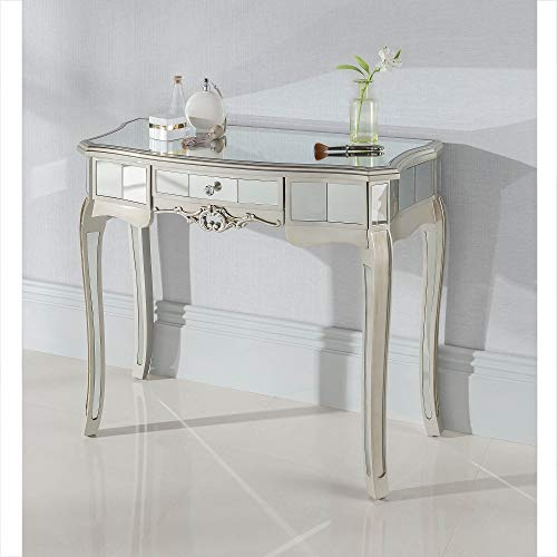 homesdirect365 Argente Mirrored Antique French Style Dressing Table
