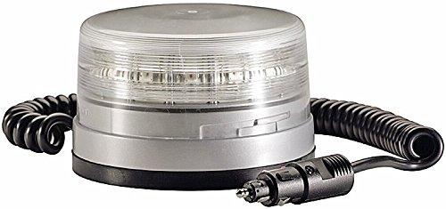 HELLA 2XD 010 311-021 Rundumkennleuchte - K-LED FO - LED - Lichtscheibenfarbe: transparent - LED-Lichtfarbe: gelb - Magnetbefestigung