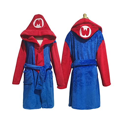 ABCSS Super Mario Weihnachten Halloween cos Kostüme,Flanell Familienpyjamas,Cartoon...