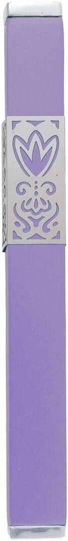 Yair Emanuel Mezuzah Case Cheap Luxury goods Metal Cutout 12 Designed Sleeve Purple