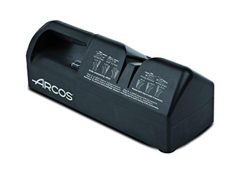 Arcos Afiladores - Afilador Eléctrico de Cuchillos Afilador de Cuchillos Eléctricos - Hecho de Plástico Color Negro (Rodillos de Banda Intercambiables)