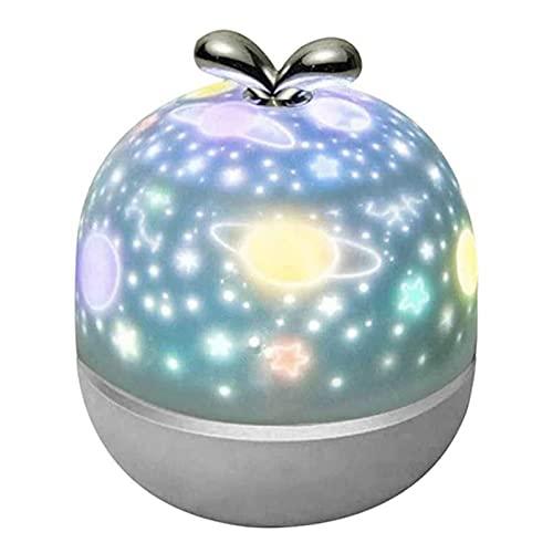 AMLF Proyector de luz de noche LED, altavoz de música Bluetooth para decoración de dormitorio, regalo para niños recarga