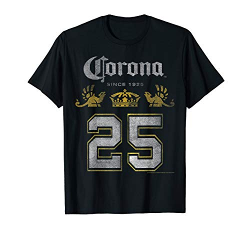 Officially Licensed Corona Logo Big Number Black Tee