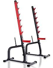 Marbo Sport Soporte para barra deportiva ajustable en altura para cargas de hasta 300 kg MS-S105