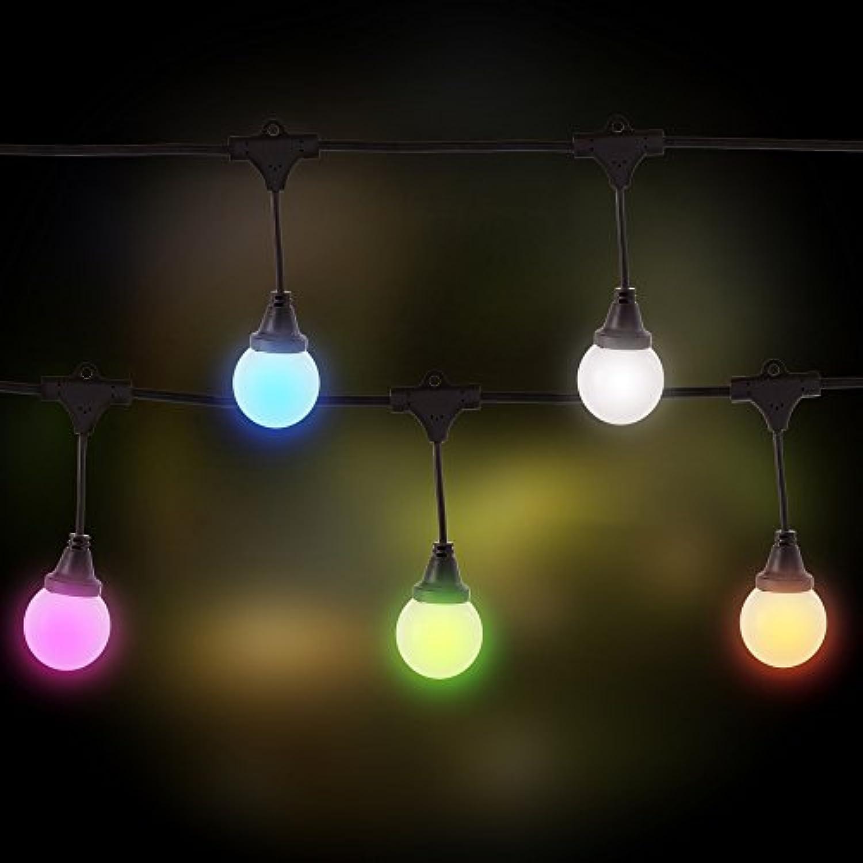 Ldk Garden LED-Lichterkette, Blautooth, für Auendekoration, Schwarz