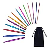 Agujas de ganchillo de aluminio multicolor de 2 a 10 mm, juego de ganchos de crochet para adultos, principiantes, de 2 a 10 mm