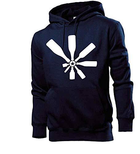 Generisch shirt84.de - Sudadera con capucha para hombre, diseño de botella de alcohol azul marino S
