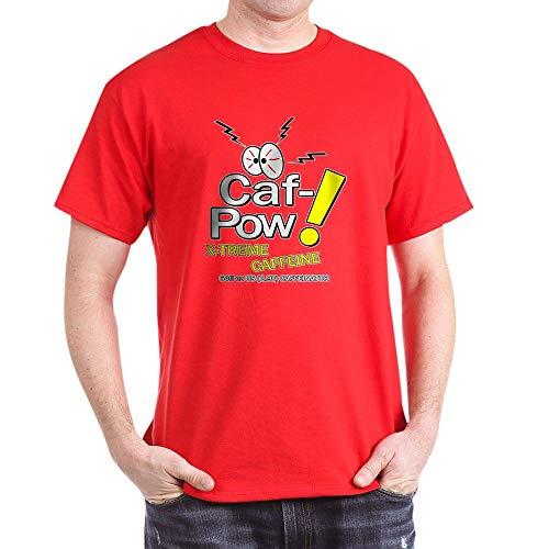 CafePress CAF Pow Dark T Shirt 100% Cotton T-Shirt Red