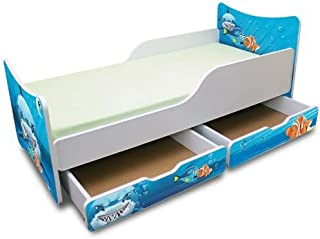 Best For Kids CHILDREN S BED with Foam Mattress with T V CERTIFIED 80x200 HAI WITH TWO DRAWERS