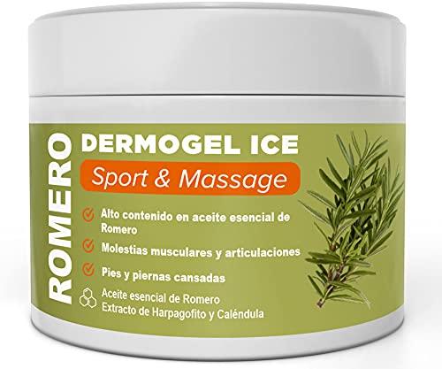 GEL CREMA ROMERO - Ayuda a aliviar y calmar las molestias musculares y de articulaciones - 300ml - Alto contenido en aceite esencial de Romero y extractos de Harpagofito y Caléndula