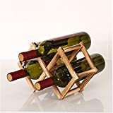 LOKIH Botellero Apilable Horizontal para Botellas De Vino, Soporte para Botellas De Vino De De Madera, Soporte De Almacenamiento Libre,Sanpei