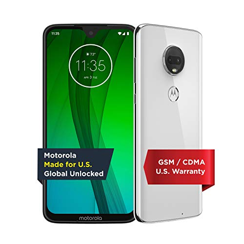Motorola Moto G7 – Unlocked – 64 GB – Clear White (US Warranty) - Verizon, AT&T, T-Mobile, Sprint, Boost, Cricket, & Metro - PAE00010US