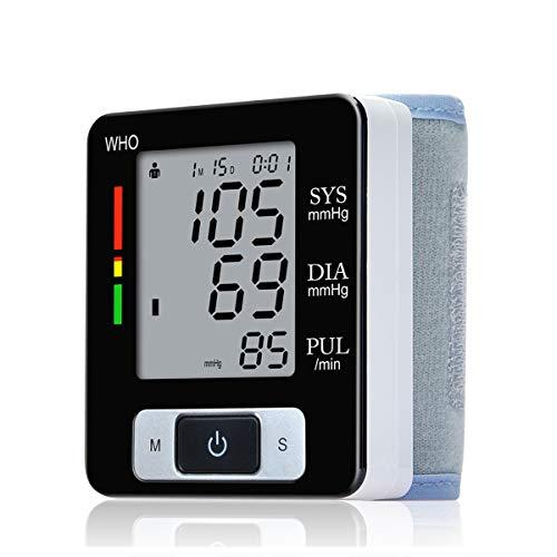 Lychee automático de muñeca monitor de presión arterial digital del golpe de corazón superior Contador LCD