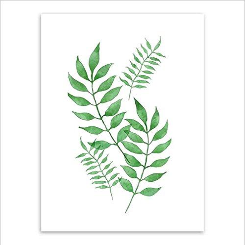 MINRAN DECOR BL Stampe su Tela Dipinti ad Olio Moderna della Parete di Arte su Tela paesaggi dalla Mano della Decorazione/Pianta Verde LS611250, 4, 20x25cm