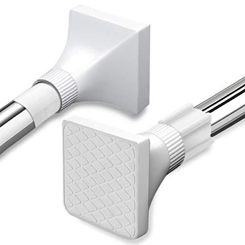 Barra de tensión telescópica extensible de acero inoxidable para baño, barra de tensión (48-80 cm)