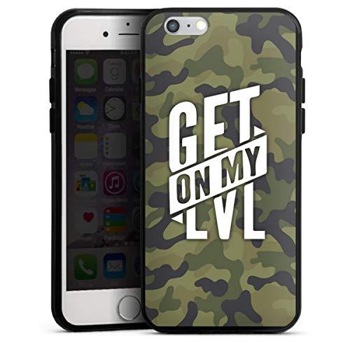 DeinDesign Silikon Hülle kompatibel mit Apple iPhone 6s Case schwarz Handyhülle Montanablack Camouflage Level