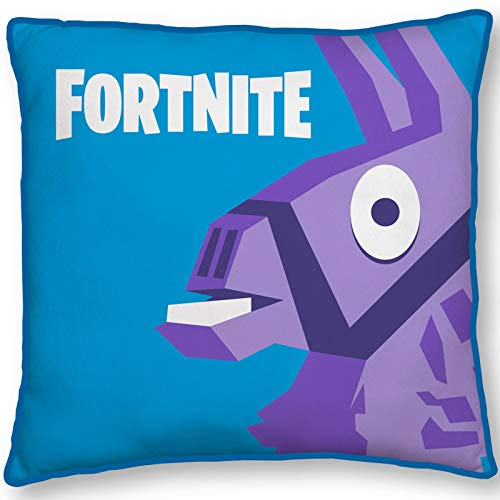 Fortnite Official Llama Square Cushion Pillow   Officially Licensed Super Soft Two Sided Llama Design   Perfect for Any Children's Room Or Bedroom, Blue, 40 x 40cm