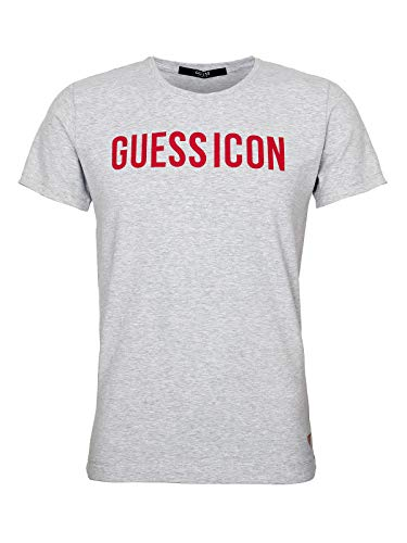 Guess ICON Regular Fit - Camiseta para hombre gris (melange) L