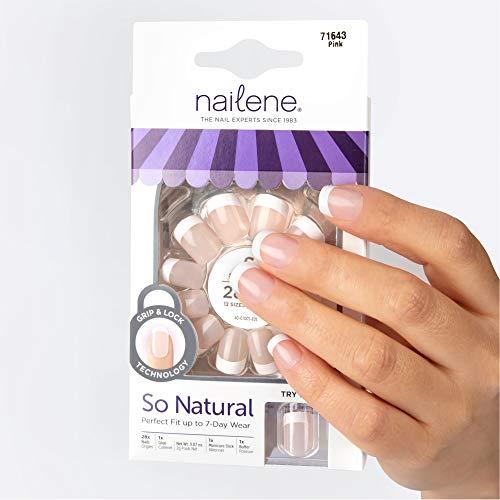 Nailene So Natural Short Artificial Nails, French Pink – Fake Nail...