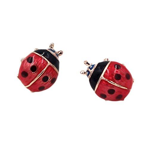 Liavy's Ladybug Fashionable Earrings - Epoxy - Stud - Unique Gift and Souvenir