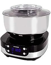 Syntrox Germany KM-800W BLACK keukenmachine kneedmachine mixer, roestvrijstalen container, 5 liter