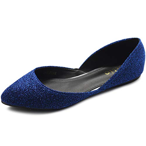 Top 10 best selling list for flat blue glitter shoes