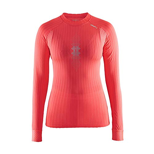 Craft Active Extreme 2.0 Brilliant Thermo-Shirt, Damen M Rosa (Shock/Silver)