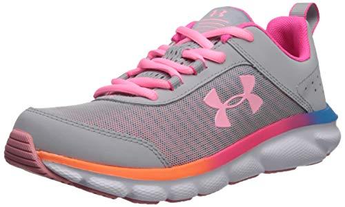 Under Armour unisex child Grade School Assert 8 Sneaker, Mod Gray (100 Pinkadelic, 5.5 Big Kid US