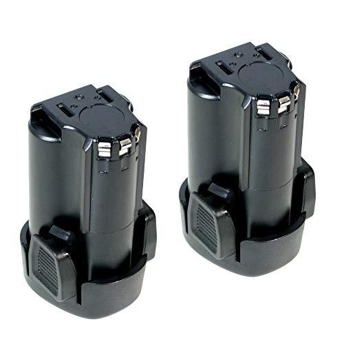 2x Trade-Shop Premium Li-Ion Akku 10,8V / 2000mAh ersetzt Black&Decker BL1510 BL1310 BL1110 LB12 LBXR12 LBX12 für EGBL108 EGBL108KB GKC108 HPL106 HPL10IM HPL10RS LDX112 LDX112C PSL12