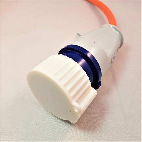 3D Cabin 16 Amp Secteur Prise électrique Housse Anti-poussière pour Camping-Car/Caravane/Camping Hookup câble : Blanc