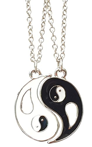 Charmtastic Ying & YANG 2 Piece Friendship Necklace Pendants