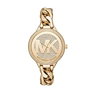 Michael Kors Women's Slim Runway Gold Tone Stainless Steel Watch MK3474