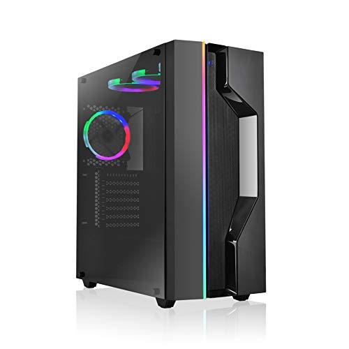 L-link KIRO - RGB, Cristal Templado, USB 3.0 Negra