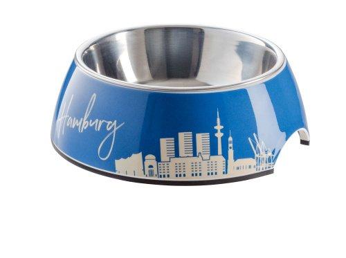 Melamin-Napf Hamburg, mit Edelstahlnapf, 700 ml, blau