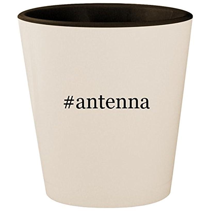 #antenna - Hashtag White Outer & Black Inner Ceramic 1.5oz Shot Glass