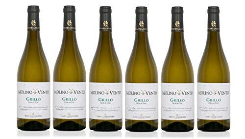 Confezione 6 bottiglie GRILLO | Vino Bianco Sicilia DOC | Cantina Tenute Orestiadi | Collezione Molino a Vento