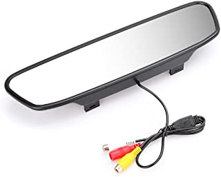 KKmoon Digital Farbe Auto Rückspiegel mit 5' Monitor TFT LCD Display Bildschirm für Rückfahrkamera DVD VCR Rückfahrsystem (A)