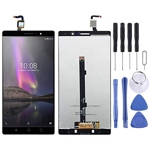Handy-Reparatur-Set LCD-Display und Digitizer Vollversammlung for Lenovo Phab2 PB2-650 PB2-650N PB2-650M PB2-650Y (Schwarz) Ersatzteil (Color : Black)