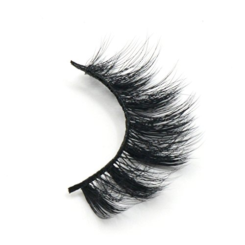Arison Lashes Fur Fake Eye Lash False Eyelashes 3D fiber Pure Hand-made Natural Look for Makeup (1 Pair)