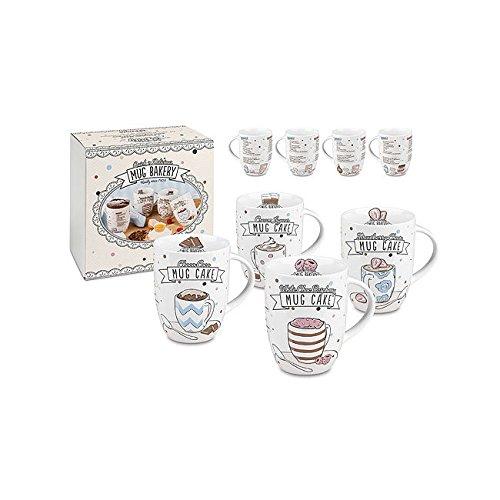 Könitz Mug Bakery Cup Cake 4 tlg Set Porzellan Becher Tassenkuchen