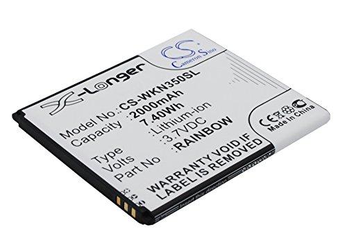 techgicoo 2000mAh/7,40wh batería de repuesto para Wiko Bloom