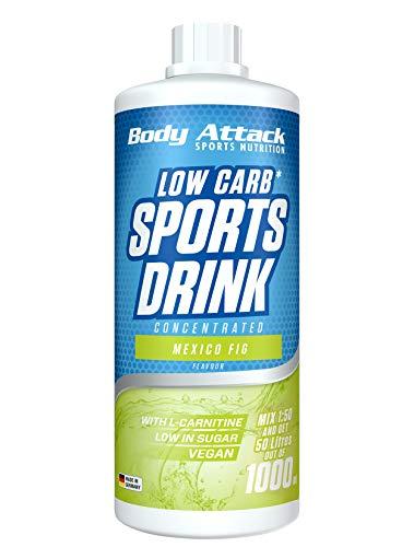 Body Attack Low Carb Sports Drink, Sportgetränkekonzentrat, Mexian Fig / Mexiko Feige, (1 x 1000ml)