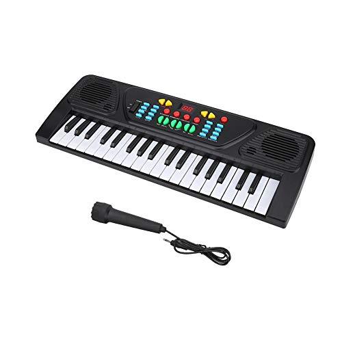 VGEBY Tastiera Elettronica 37 Tasti Tastiera Elettronica Multifunzione Giocattolo di educazione Musicale per Bambini Principianti