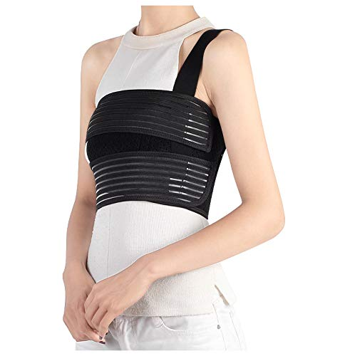 Solmyr Broken Rib Brace, Rib and Chest Binder Belt for Men and Women, Rib Cage Protector Wrap Rib Belt for Sore or Bruised Ribs Support, Broken Sternum, Dislocated Ribs Protection, Pulled Muscle Pain