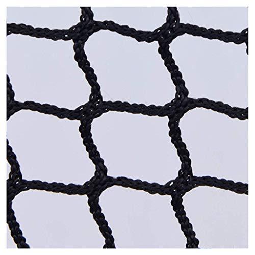 LXM Red para escaleras, balones de balón, para cancha de baloncesto, golf, barrera de repuesto, protección de la red de objetivos, cuerda de carga para camiones (color: negro, tamaño: 4 x 8 m)